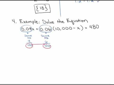 Solving Linear Equations containing Decimals