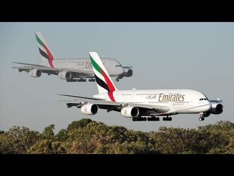 Two A380s In Perth! - Takeoff and Landing: HALF AN HOUR BETWEEN