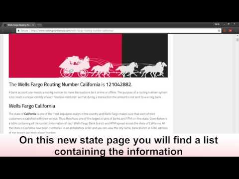 Know Your Wells Fargo Routing Number For California