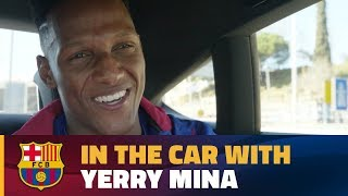 Yerry Mina's chat in the car on his way to the Camp Nou!