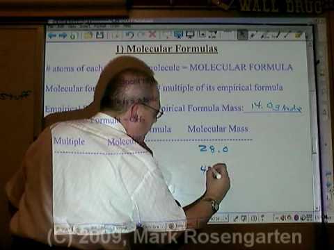 Chemistry Tutorial 7.4d:  Deterrmining The Molecular Formula Given The Empirical Formula And Molecular Mass