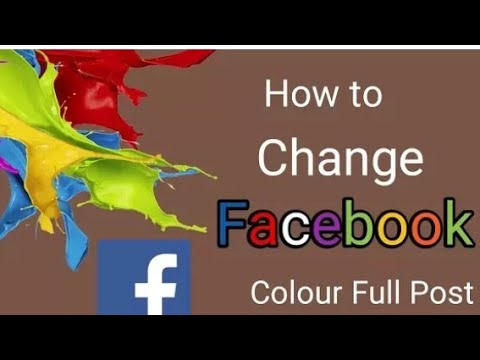 How to change colour on fb status,comment,post,etc