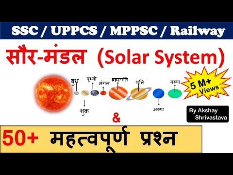 solar system | solar system planets | सौर मंडल  Important Notes for SSC , UPPCS, MPPSC ,RAILWAY