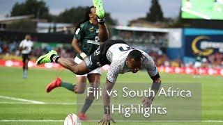 Fiji vs South Africa Highlights - Hamilton 7s Cup Finals