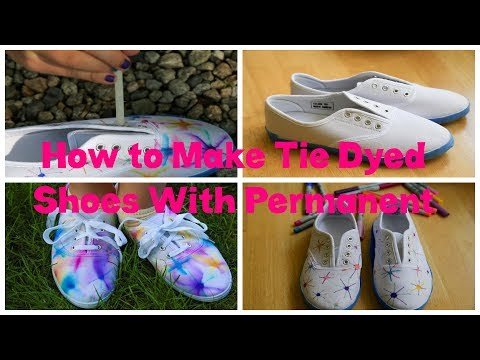 How to Make Tie Dyed Shoes With Permanent Markers