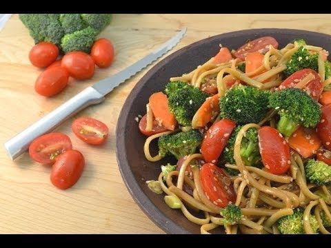 Pasta Salad Recipe Asian Style - Homemade Sesame Dressing | RadaCutlery.com