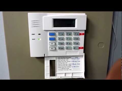 How to change the hostage code on a Honeywell security system.