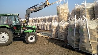 Firewood packed in woodbags