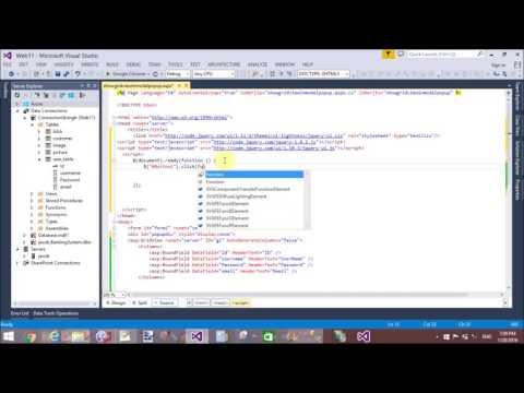 ASP.NET GridView show in JQuery Modal Popup part-1