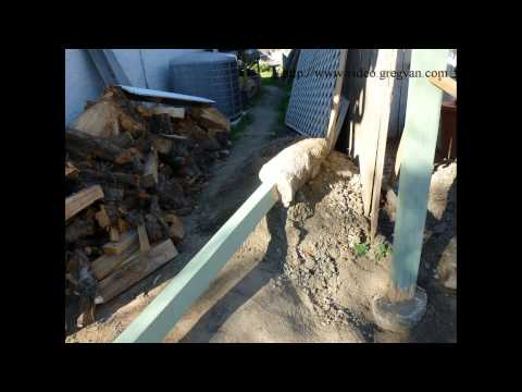 How To Replace Wood Fence Post and Reuse Concrete Post Footing