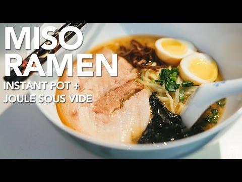 MISO RAMEN NOODLES - Instant Pot & Joule Sous Vide