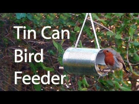 How to Make a Tin Can Bird Feeder