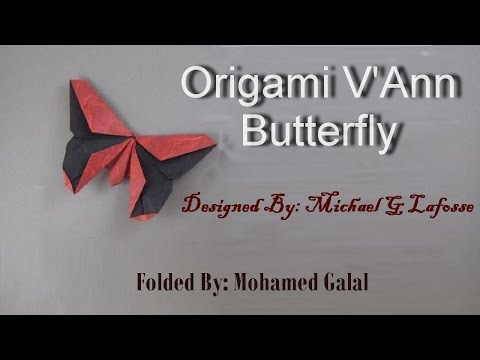 How to make an Origami butterfly by Michael G LaFosse