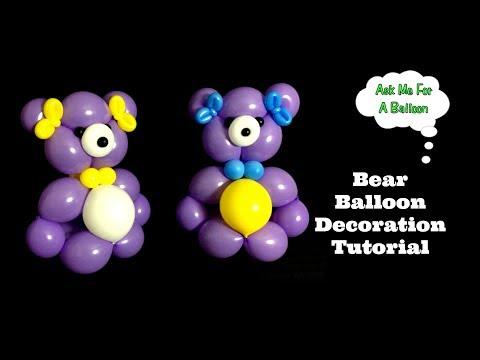 Bear Balloon Decoration Tutorial