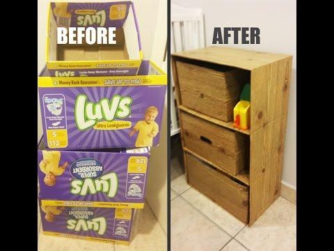 DIY Dresser w/ Cardboard Boxes