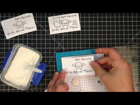 How to Create Personalized Gift Tags - Monster Halloween Tags