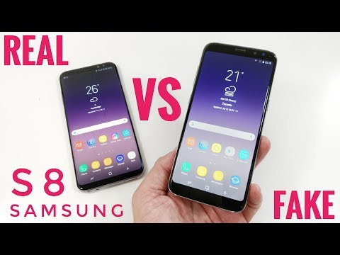 FAKE vs REAL Samsung Galaxy S8 - 1:1 Clone - Buyers BEWARE!