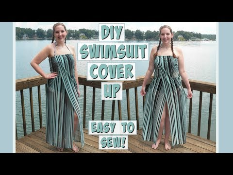 DIY Swimsuit Cover-Up Sewing Tutorial   Easy to Sew!   How to Make a Coverup