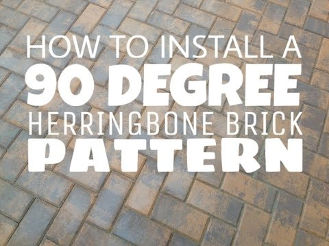 How to install a 90 degree herringbone brick pattern walkway in Gettysburg Pa 17325