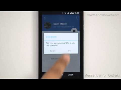 Telegram Messenger For Android - How To Block A Telegram Contact