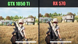 PUBG : New Erangel V2 | GTX 1050 Ti vs RX 570