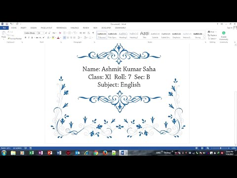 Design a Beautiful Front Page for School Projects in Microsoft Word