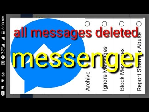 Delete Facebook messenger all message shared and photo one minutes