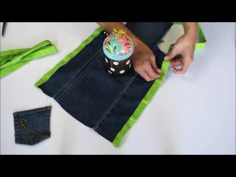How to make a levi apron from a pair of pants!
