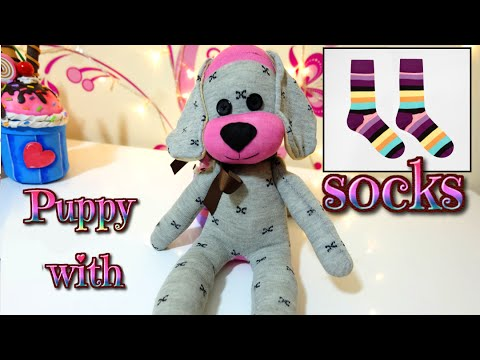 Diy How To Make A Puppy Dog With Socks Easy Crafts Isa