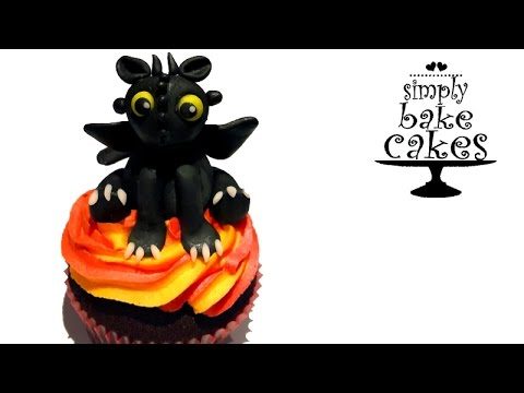 3D Toothless - How to train your dragon cupcake topper TUTORIAL