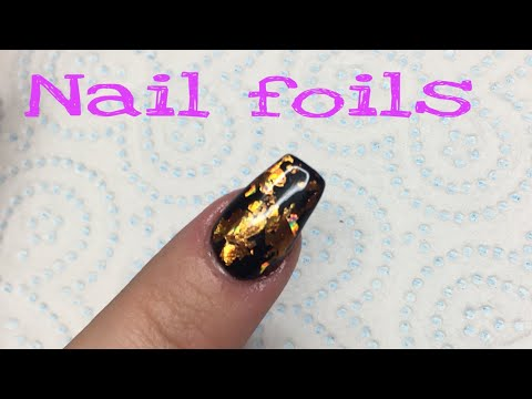 How to apply nail art foils without glue