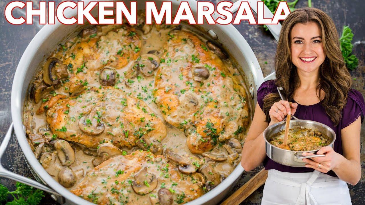 Creamy Chicken Marsala Recipe - 30 Minute Dinner
