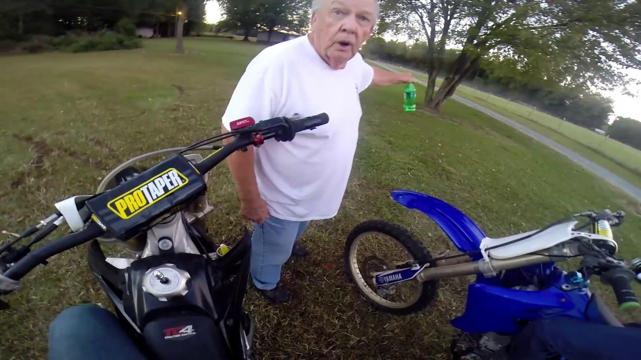 """Old Man Threatens Young DirtBike Riders """"Just Do It!"""""""