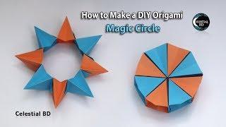 Origami Magic (Flexible) Circle - Origami Easy - YouTube | 180x320