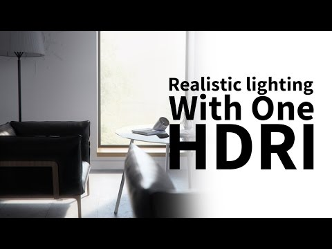 Cinema 4d & vray tutorial - realistic lighting with one light only