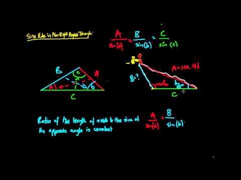 Sine (Sin) Rule in Non-right Angled Triangles