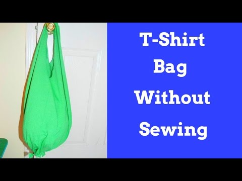 How to make a T-shirt into a Bag With out Sewing