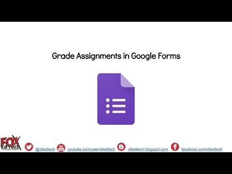 Grade Assignments inside Google Forms (11.3.16)