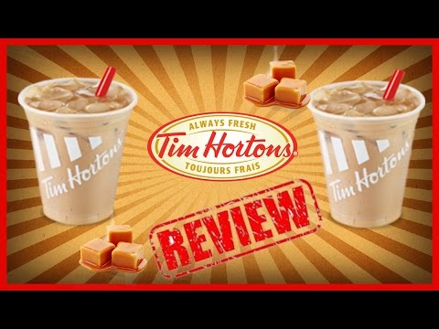 ♥Tim Horton Ice Coffee & Caramel Flavor Shot Review♥-May 11th 2016