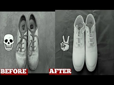 How To Clean School Shoes At Home Video