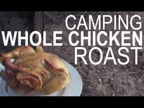 Roast A Whole Chicken At Camp! / Outdoor Cooking  / Zebra Billy Can Bush Pot / Firebox Stove