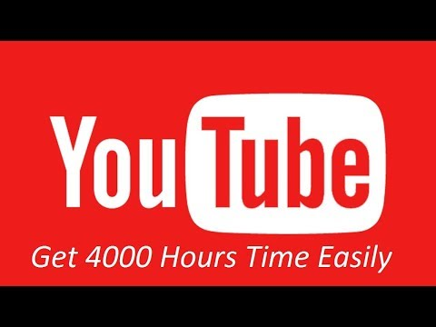 [Hindi-हिन्दी] How to Get 4000 Hours Watch Time on Youtube Easily