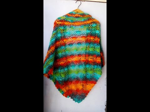 crochet festival shawl