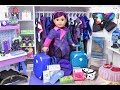 Download Baby Doll Descendants 3 Mal Packing Suitcase and Dress up! Doll Closet u0026 Travel Accessories! MP3,3GP,MP4