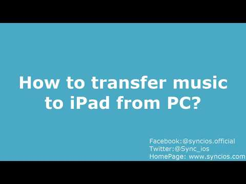How to Transfer Music from PC to iPad without iTunes!!!!!