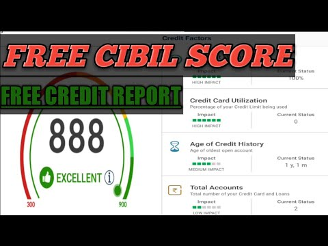 How to check free CIBIL score online in Hindi / Urdu 2017 - 2018