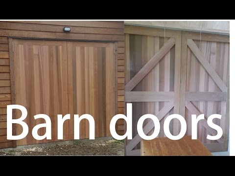 Rosewood and Cedar Barn doors