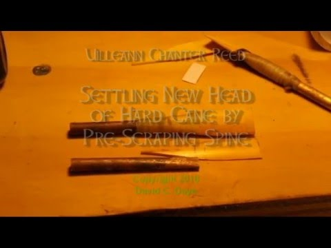 Partial Pre-Scraping of Uilleann Reed for Brighter Tone