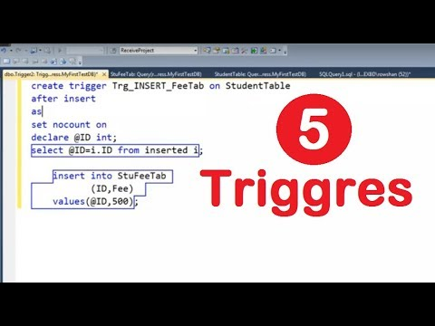 how to create trigger in sql server. PART 5