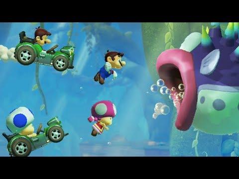 Super Mario Maker 2 Multiplayer Co-op 4 Player Mario's Woods